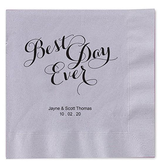 Custom Napkins - Surprising Things You Can Buy for Your Wedding on Amazon - Photos