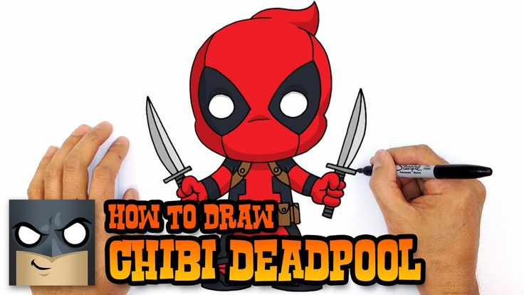 how to draw deadpool face step by step