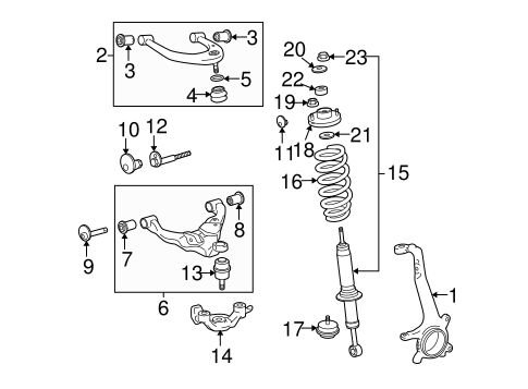 FRONT SUSPENSION/SUSPENSION COMPONENTS for 2007 Toyota Tacoma #2