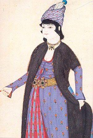 Abdullah Buhari, Genç Kadın, ayrıntı, İstanbul Üniversitesi Kütüphanesi T 9364, y.10b, 18.yy. ilk yarısı