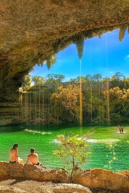 Hamilton Pool near Austin, Texas. This is a collapsed cave. Very cool! | From @GuessQuest collection