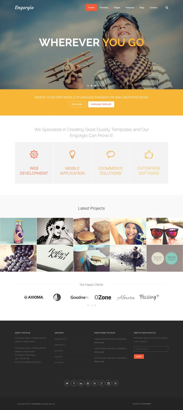 66 best html portfolio templates images on pinterest html engorgio web design agency responsive site template toneelgroepblik Image collections