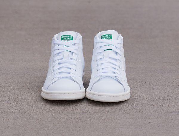 Adidas Stan Smith Mid White  Green  Chalk White (5)