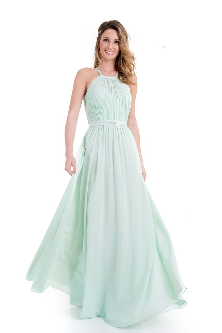 23 best mint to be mint bridesmaid dresses long or short images 1687 collar neck long chiffon bridesmaids dress mintbridesmaidsdresses ombrellifo Images