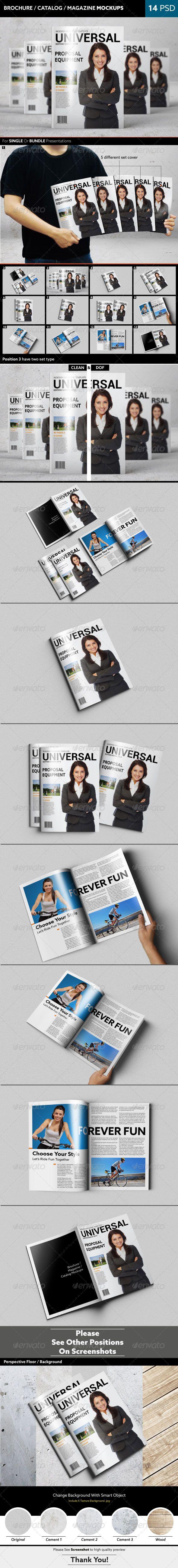 Brochure / Catalog / Magazine Mockups - Brochures Print
