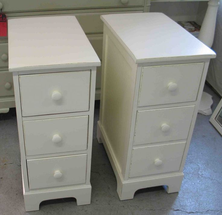 White Small Nightstands With Drawers. Narrow NightstandSmall Bedside TablesNightstand  IdeasNarrow ...