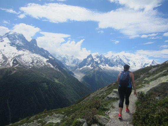 Hiking to Lac Blanc, Chamonix