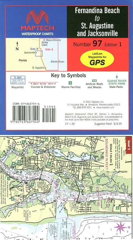 21 best maptech florida to louisiana waterproof charts images on