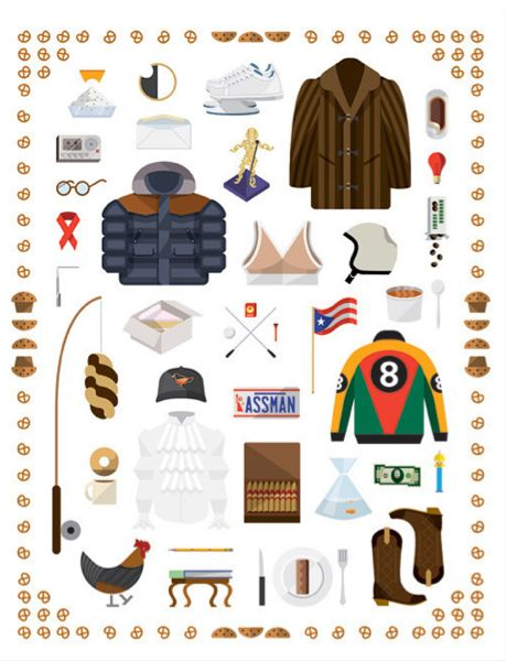 So many Seinfeld references in one print!