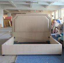 La plaza rey / reina tamaño cama de tejido de estilo retro para cama classic muebles y hotel(China (Mainland))