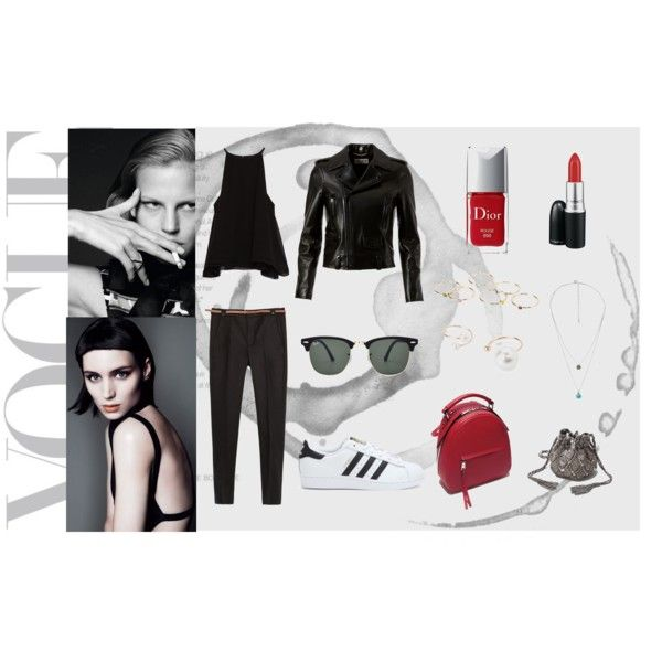 My style by renatabarroso on Polyvore featuring Zara, Yves Saint Laurent, adidas, MANGO, Ray-Ban, MAC Cosmetics, Christian Dior and modern