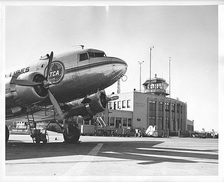 Montreal Airport, 1945.