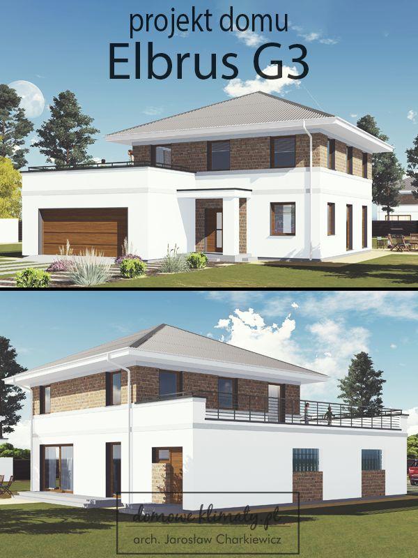 Projekt nowoczesnego domu piętrowego o powierzchni ponad 147 m2 z 3-stanowiskowym garażem. Projekt proponuje poszerzenie garażu o 1 stanowisko kosztem pokoju gościnnego na parterze.  Ponadczasowy, klasyczny wygląd domu piętrowego sprawi, że dom będzie wyróżniał się wyglądem spośród innych domów.