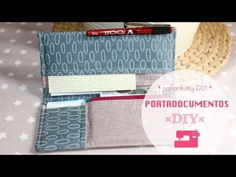 DIY: Porta Documentos para el Bolso | Manualidades Fáciles y Económicas - YouTube
