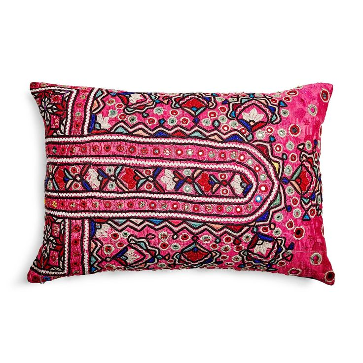 abcDNA Holi Hot Pink & Purple Pillow
