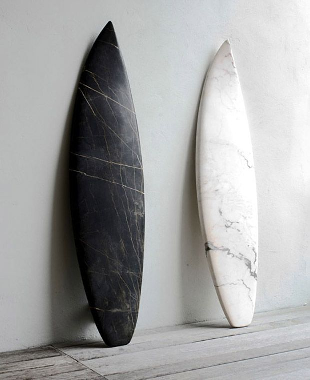 Carrera marble surfboards for my beach house. {carrera marble love}