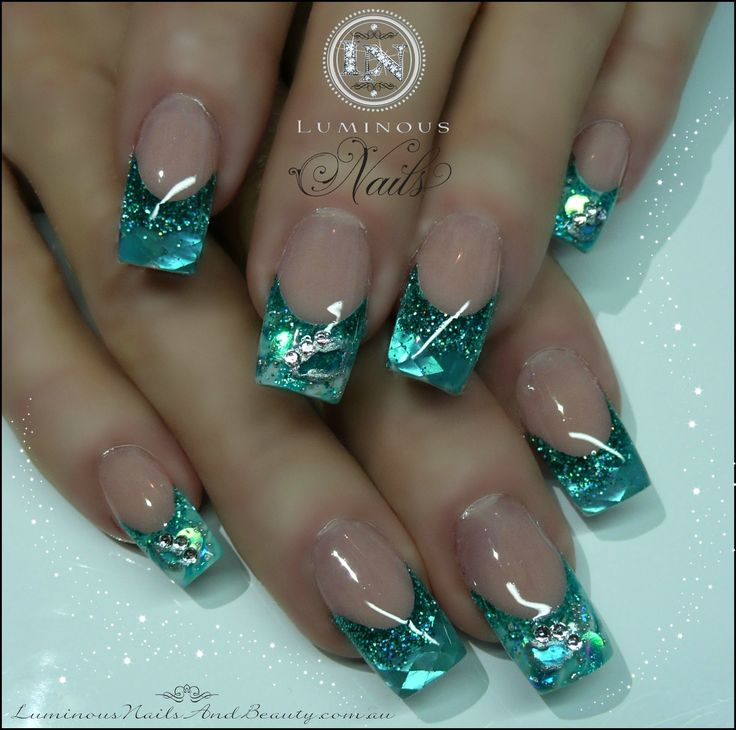 sculptured nails | Acrylic+&+Gel+Nails,+Sunless+Spray+Tans.+Sculptured+Aquamarine+Nails ...