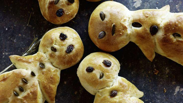 Pour les petites envies de sucré: ce bonhomme confectionné avec une pâte maison peut être décoré d'amandes, de raisins secs et de sucre grêle.