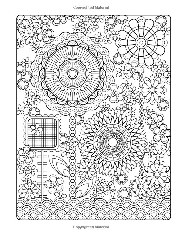 Flower Designs Coloring Book Jenean Morrison Adult Flower Design Coloring Pages