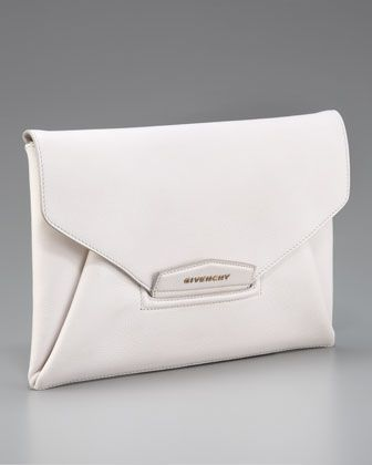 Antigona Envelope Clutch by Givenchy at Bergdorf Goodman.: Givenchy Antigona, Envelopes, Handbags Galore, White Antigona, Clutches, Antigona Envelope, Bergdorf Goodman, Envelope Clutch I