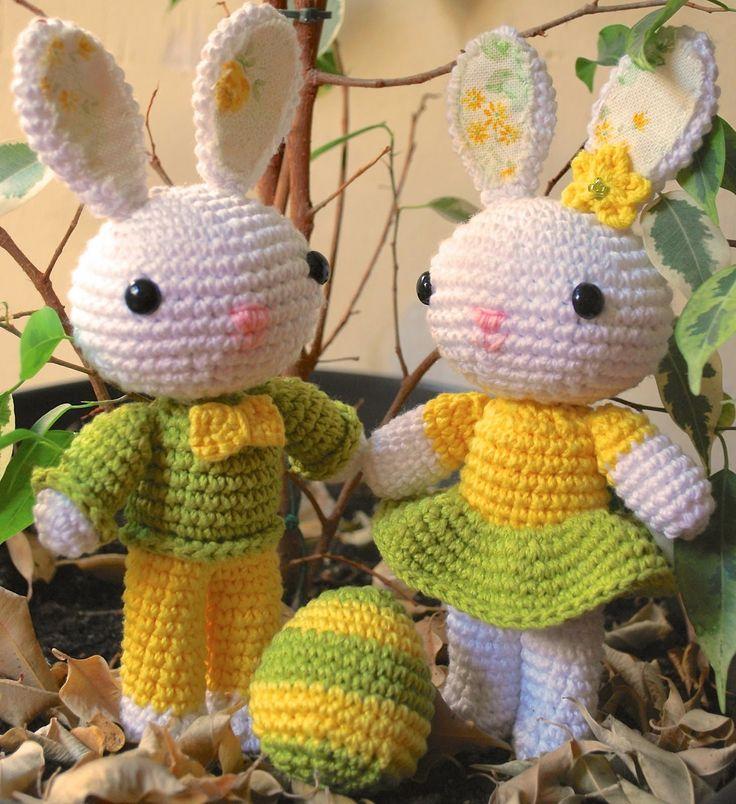La Magia del Crochet: CONEJITOS AMIGURUMI
