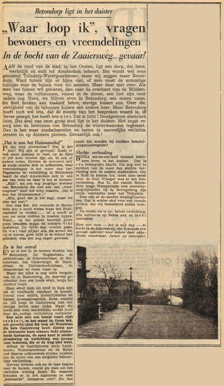"""01 december 1951 - """"Waar loop ik"""", vragen bewoners en vreemdelingen"""