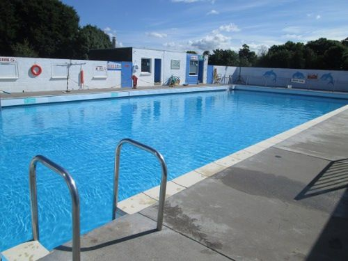 New Cumnock Pool in Scotland - right in the town centre