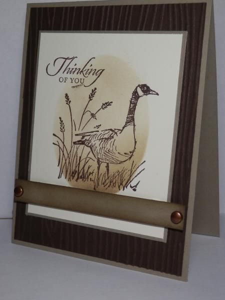 Masculine goose by jo1171 - Cards and Paper Crafts at Splitcoaststampers