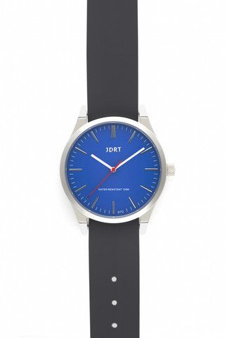 Azure Face with Slate Silicone Watch Band