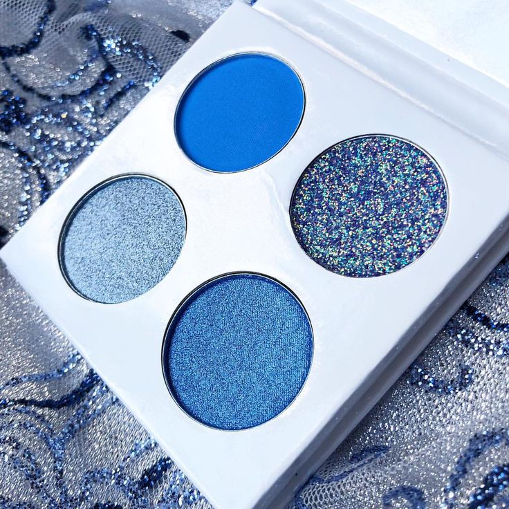 Embrace the blues. ❄️ Our Mighty Mini Quads are going to be perfect stocking stuffers! $10 each. Keep your eyes peeled for YOUR favorite color story! These launch Nov 26th. 🤪 Limited quantities. #MakeUp #MakeUpLover #MakeUpJunkie #MakeUpMafia #WakeUpAndMakeUp #Eyes #Eyeshadow #EyeshadowPalette #Glitter #Shimmer#Holiday #HolidayMakeUp #Beauty #BeautyJunkie #Cosmetics #CrueltyFree #ShopSmall #IndiemakeUp #makeuptutorial #beautiful #art #quad #colors #mini #stockingstuffers