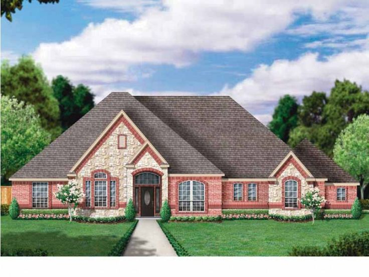Seems like a good plan ~TW Eplans House Plan: This elegant plan offers flexibility for a growing family. Large dining and family areas are open to the kid friendly dinette and kitchen. Three bedrooms share a Jack and Jill bath. Bedroom 5 can be convert