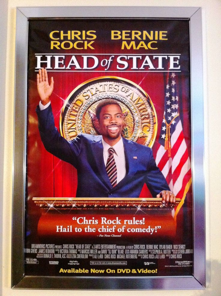 Head of State Movie Poster 27x40 Used Tracy Morgan, Bernie Mac, Robert Randolph Caton, Ron Killings, Tamala Jones, Clarke Peters, Jude Ciccolella, Ed Wheeler, Pat Moran, Chris Rock, Patsy Grady Abrams, Brian James, Mark Zeisler, Jeff Jarrett, Dylan Baker