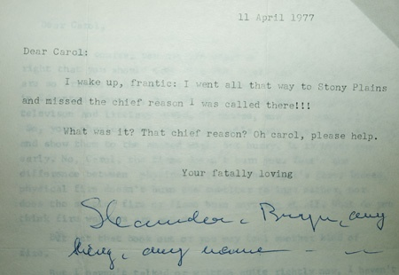 Original letter from Shamcher
