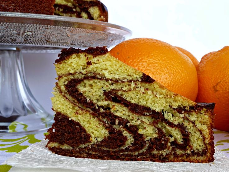 Una Fiera en mi cocina: Bizcocho cebra de naranja y chocolate