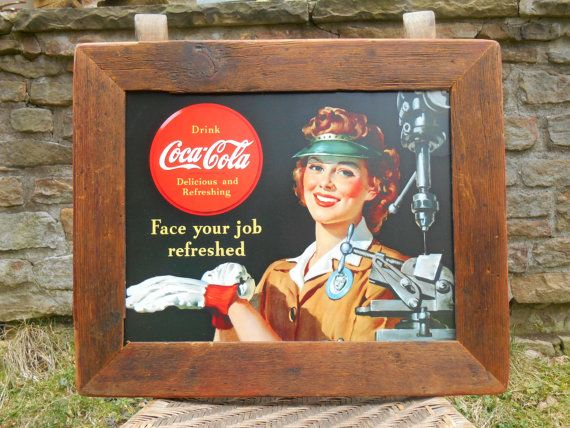 Retro Style Coca Cola Sign in Handmade Reclaimed by Swansdowne