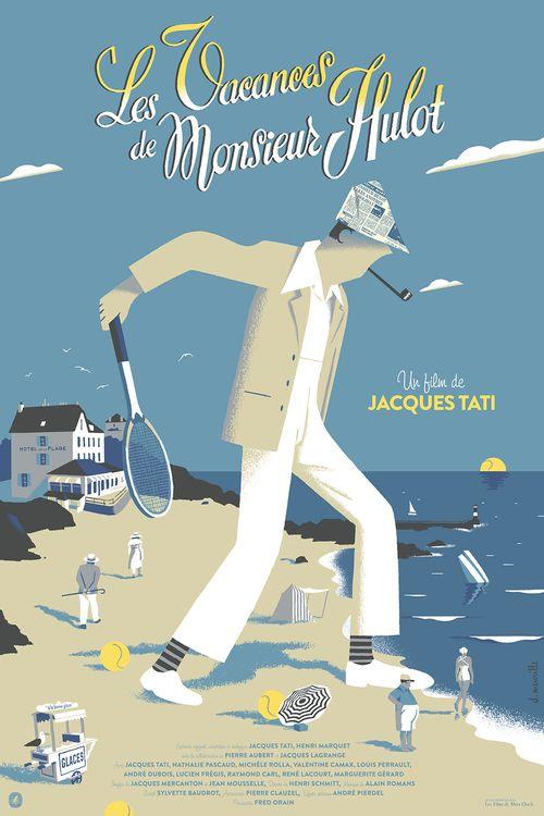 """sérigraphie """"Les vacances de Monsieur Hulot"""" par David Merveille"""