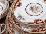 vintage entree main dessert plates hire toowoomba