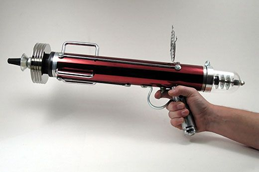 Despite, the fact that they don't actually exist (or perhaps because of it), there is an almost endless variety of designs for toy ray guns. Description from superradnow.wordpress.com. I searched for this on bing.com/images