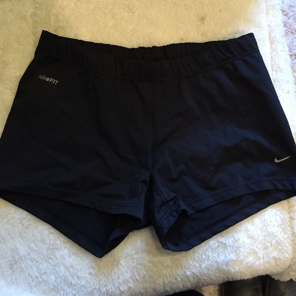 Nike spandex shorts Gently used with a drawstring tie, they are dry fit and made with polyester and spandex Nike Shorts