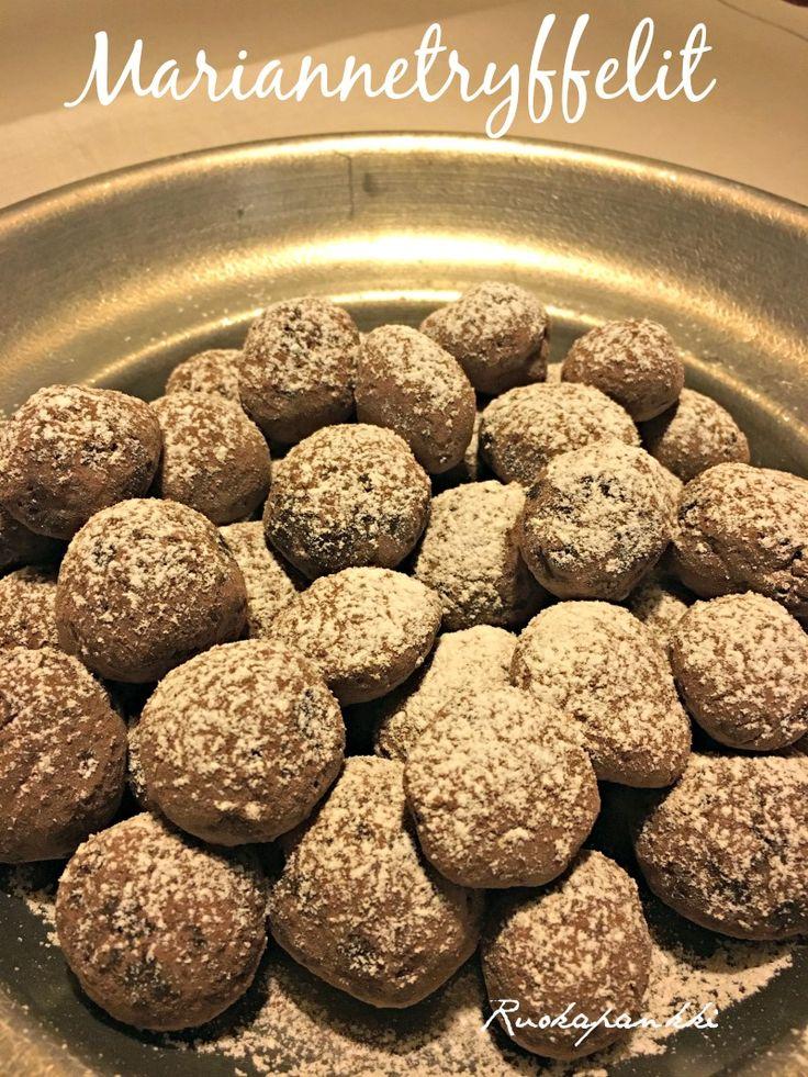 Ruokapankki: Mariannetryffelit #ruokapankki #ruokablogi #joulu #christmas #chocolate #sweet #suklaa #foodie #foodblogger #omnom