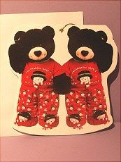 Teddy bear cards with envelopes.  More vintage cards found in BOOKS on website http://barbspencerdolls.com