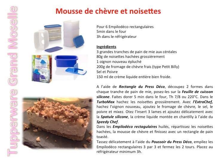 Mousse de chèvre et noisettes - Tupperware
