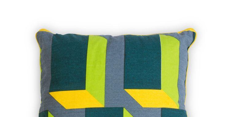 Verdon, coussin 45 x 45 cm, canard et jaune | made.com
