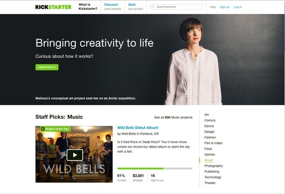 Kickstarter is a new way to fund creative projects. http://www.kickstarter.com/