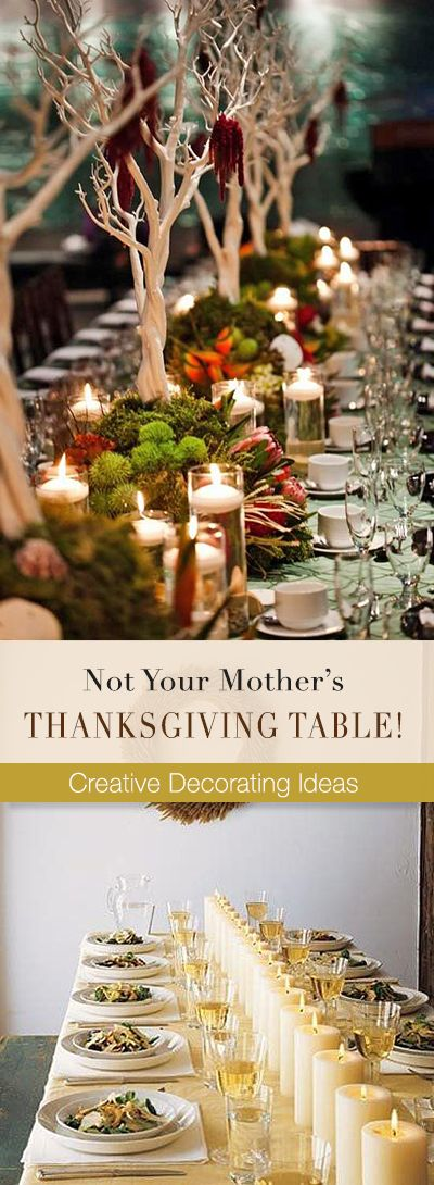 Not Your Mother's Thanksgiving Table! • Creative Thanksgiving table decorating Ideas! #thanksgivingtabledecor #thanksgivingtabledecorating #thanksgivingtabledecoratingideas #thanksgivingtable