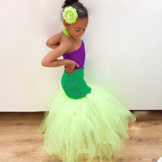 Disney Little Mermaid Tutu Dress inspired Girl's by CordeliaRoyle