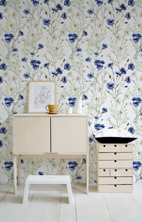 37 Spring Floral Removable Wallpaper Ideas For Home Decor Decorhit Com Wallpaper Living Room Wall Wallpaper Floral Wall Decor
