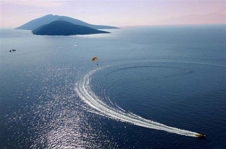 Parasailing in Bodrum, Turkey #bodrum #parasailing