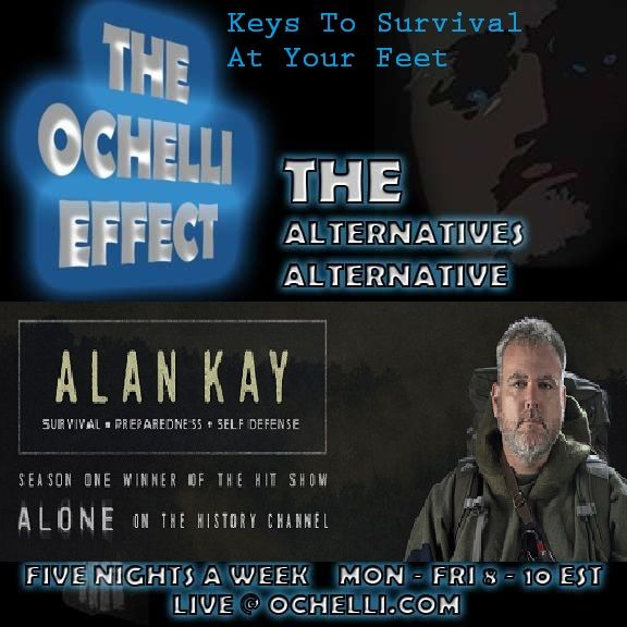 "Keys to Survival Alan Kay  The Ochelli Effect-2017-07-21 with Alan Kay keys to Survival  Hour one.  Alan Kay returns to teach us keys to survival.    Revealing some of the strengths that  were keys to victory in SEASON 1 of the  History Channel Show ""Alone"".    56 days of survival was the mark Alan Kay  hit on the show but it was because of long  term"