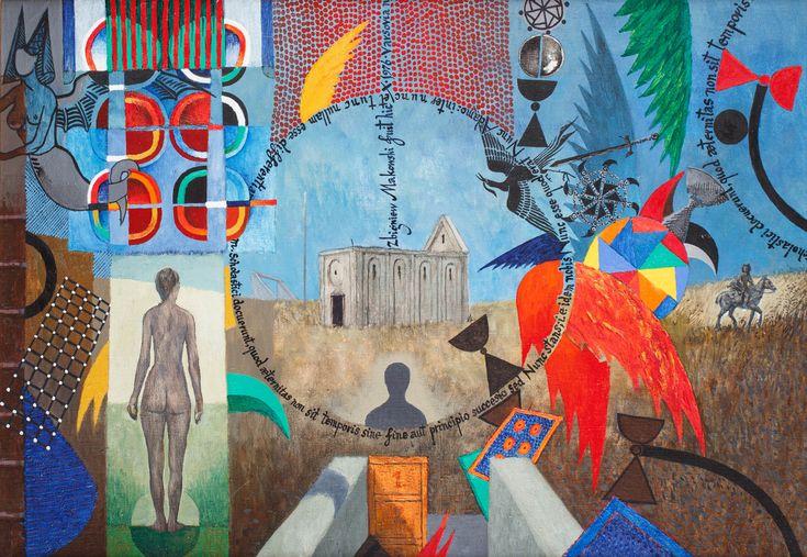 ZBIGNIEW MAKOWSKI (1930)  SINE FINE AUT PRINCIPIO, 1976   olej, płótno / 65 x 95 cm